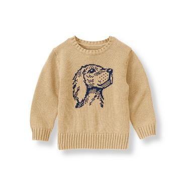 Tan Dog Icon Sweater at JanieandJack