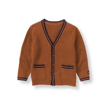 Orange Rust Tipped Cardigan at JanieandJack