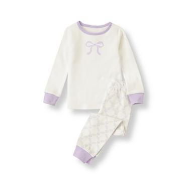 Ivory Bow Pajama Set at JanieandJack