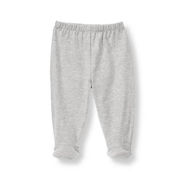 Heather Grey Footed Pant at JanieandJack