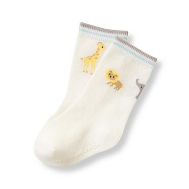 Baby Boy Ivory Animal Sock at JanieandJack