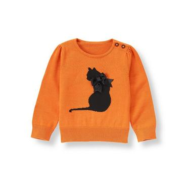 Pumpkin Cat Sweater at JanieandJack