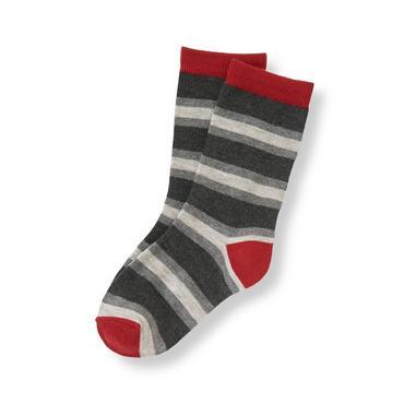 Boys Charcoal Stripe Striped Sock at JanieandJack