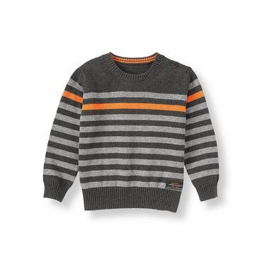 Charcoal Stripe Striped Sweater at JanieandJack