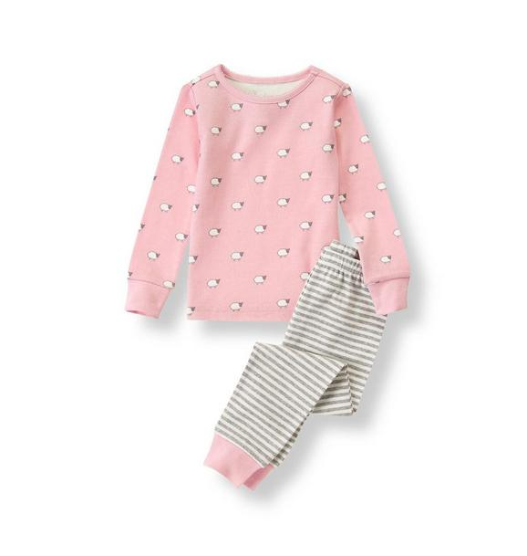 Sheep Print Pajama Set