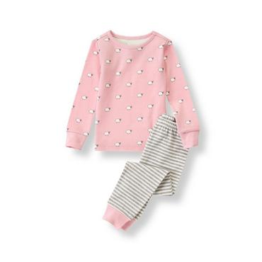Pink Sheep Print Pajama Set at JanieandJack