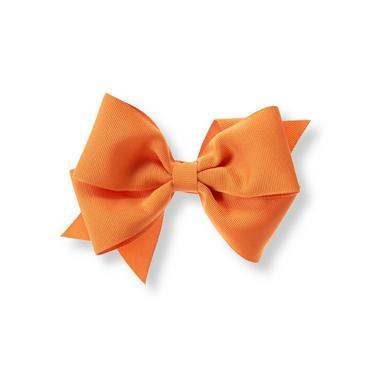 Pumpkin Bow Barrette at JanieandJack