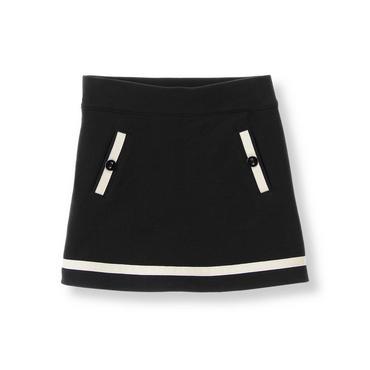Black Ribbon Ponte Skirt at JanieandJack