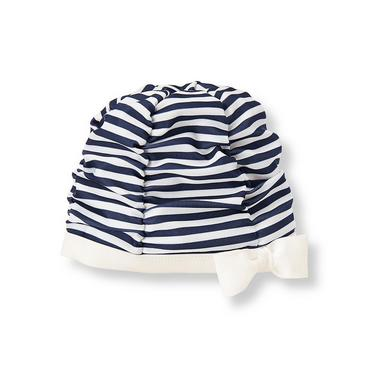 Navy Striped Swim Cap at JanieandJack