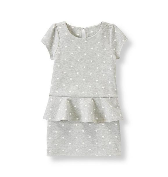 Heart Peplum Dress