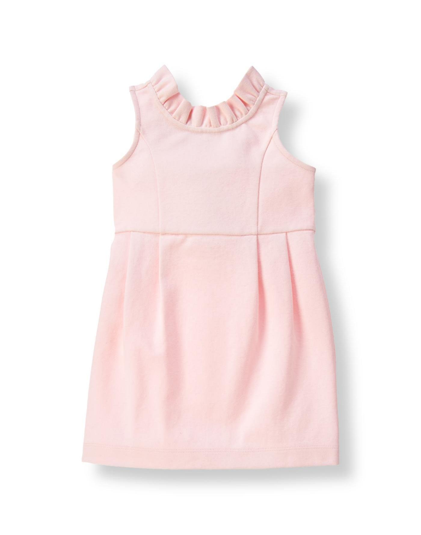 Party Pink Ruffle Ponte Dress at JanieandJack