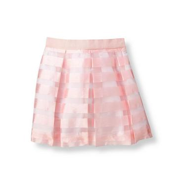 Party Pink Stripe Striped Organza Skirt at JanieandJack