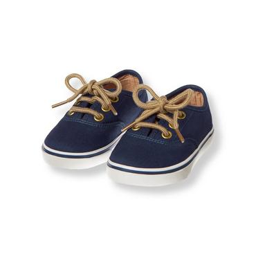 Seaside Navy Twill Sneaker at JanieandJack
