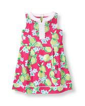 Lime Print Dobby Dress