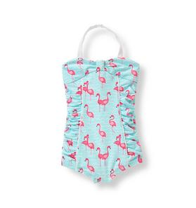 Flamingo Print Swimsuit