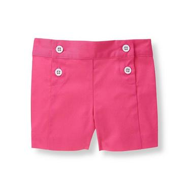 Flamingo Pink Double-Button Short at JanieandJack