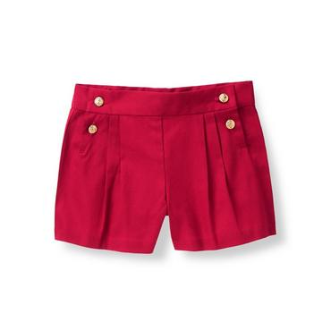 Red Double-Button Short at JanieandJack