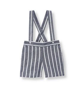 Striped Suspender Short