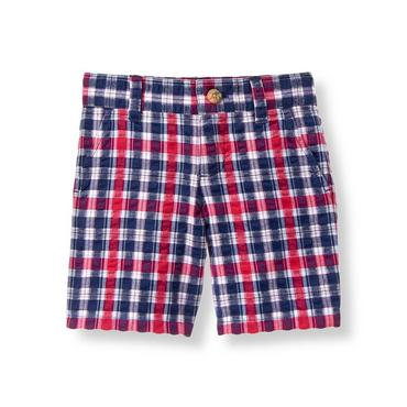 Boys Red Plaid Plaid Short at JanieandJack