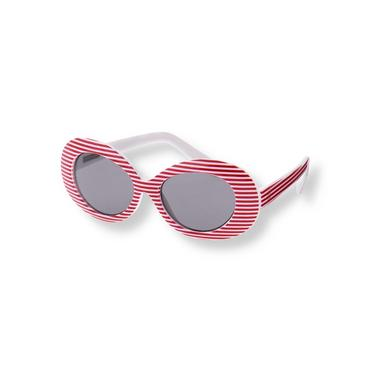 Red Stripe Striped Oval Sunglasses at JanieandJack