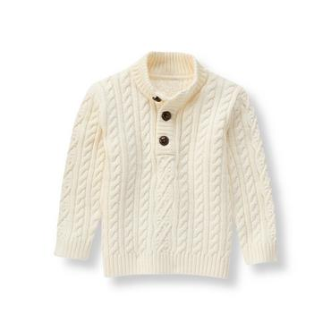 Cream Cable Knit Sweater at JanieandJack