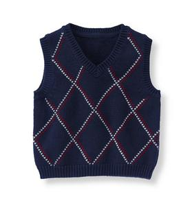 Patterned Sweater Vest