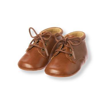 Baby Boy Bear Brown Oxford Crib Shoe at JanieandJack