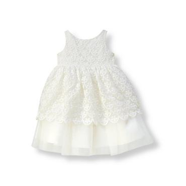 Baby Girl White Floral Organza Dress at JanieandJack