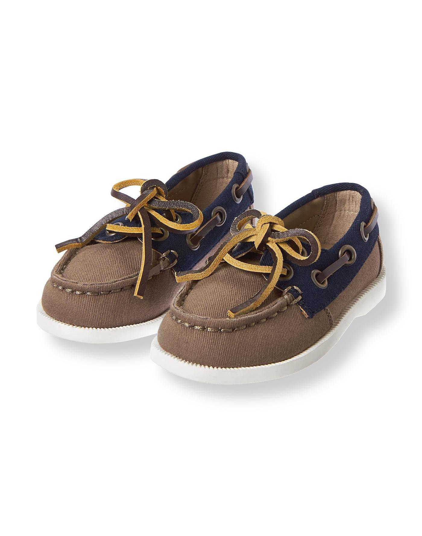 Deck Brown Colorblock Boat Shoe at JanieandJack