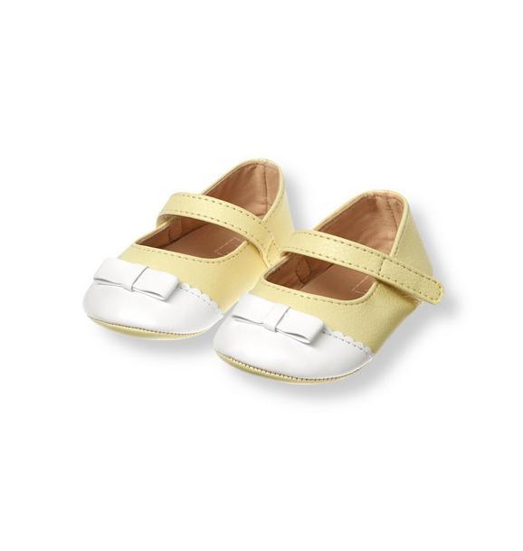 Bow Colorblock Crib Shoe