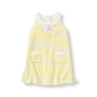 Lemon Stripe Striped Swim Cover-Up at JanieandJack