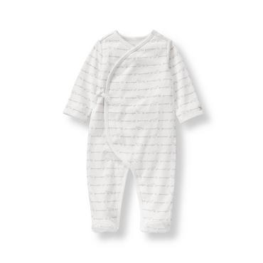 Layette Grey Print Elephant Logo 1-Piece at JanieandJack
