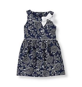 Floral Sateen Dress