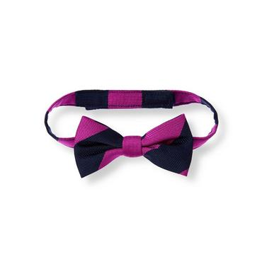 Baby Boy Plum Stripe Striped Bowtie at JanieandJack
