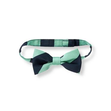 Aqua Stripe Striped Bowtie at JanieandJack