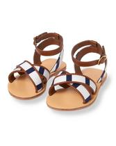 Striped Sandal