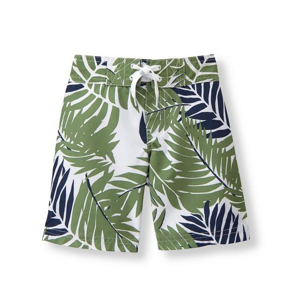 Palm Print Swim Trunk
