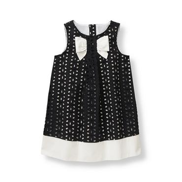 Baby Girl Black Floral Eyelet Dress at JanieandJack