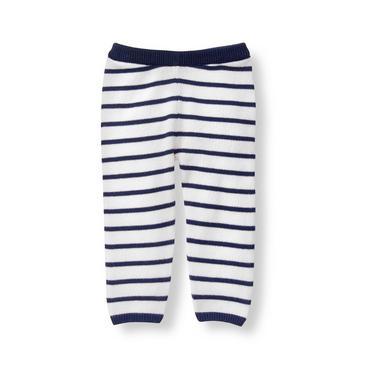 Layette Navy Stripe Striped Sweater Pant at JanieandJack
