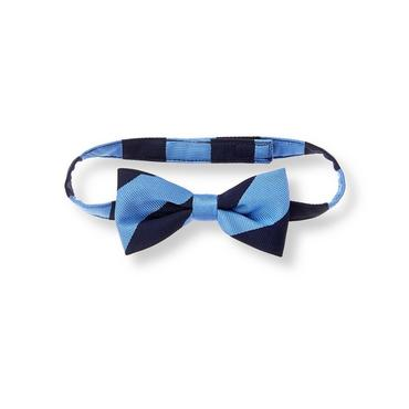 Baby Boy Cornflower Blue Stripe Striped Bowtie at JanieandJack