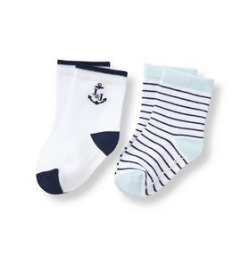 Anchor & Stripe Sock 2-Pack