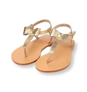 Metallic Bow Sandal