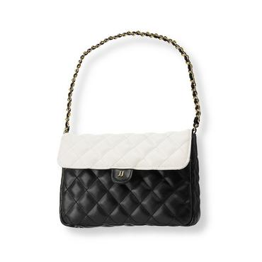 Baby Girl Black Quilted Colorblock Purse at JanieandJack