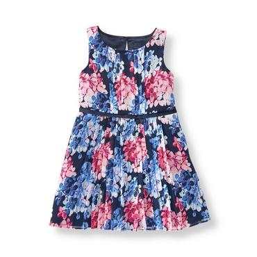 Baby Girl Blue Hydrangea Hydrangea Chiffon Dress at JanieandJack