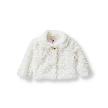 Baby Girl Ivory Faux-Fur Jacket at JanieandJack