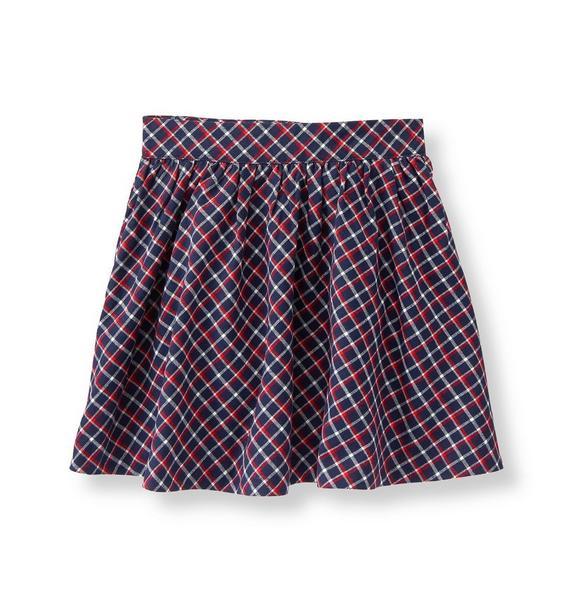 Plaid Twill Skirt