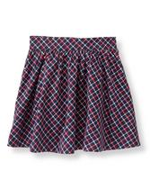 Plaid Twill Skirt