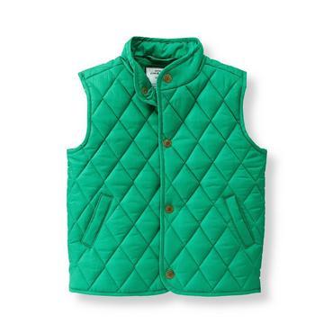Baby Boy Highlands Green Quilted Vest at JanieandJack