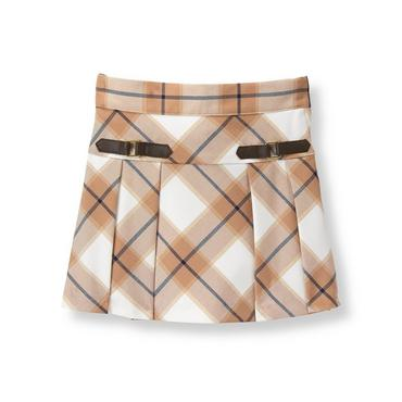 Tan Plaid Plaid Skirt at JanieandJack