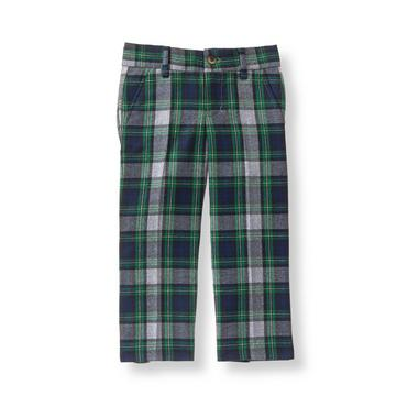 Baby Boy Evergreen Tartan Tartan Suit Trouser at JanieandJack